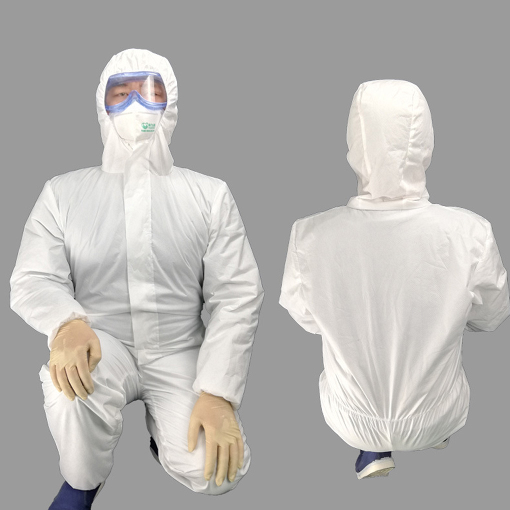 Non-woven White Coverall Hazmat Suit Protection Protective Disposable Clothing  Laboratory Factory Hospital Safety Clothing