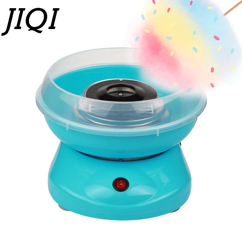 JIQI 110V/220V MINI Electric DIY Sweet Cotton Candy Maker Portable Marshmallow Cotton Sugar Fairy Floss Spun Machine EU US Plug