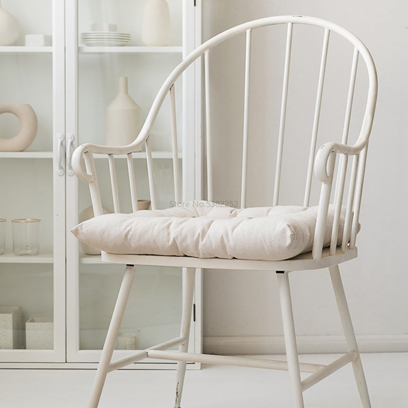 Iron White Dining Chair Northern Europe