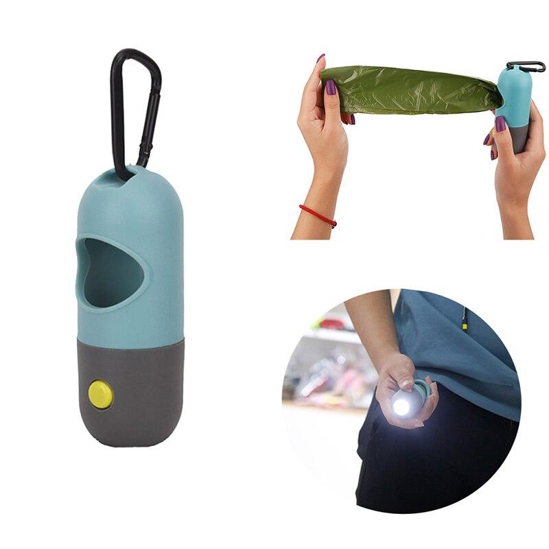 Dog Poop Bags Eco-Friendly Pet Waste Bags Dispenser LED Light For Pet Leash Not Includes Battery Pet Degradable Poop Bags