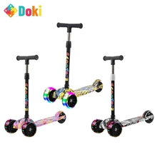 Doki Toy Children Scooter Tricycle Baby 3 In 1 Balance Bike Ride On Toys Flash Folding Car Child Toys Ride On Toys Popular 2021