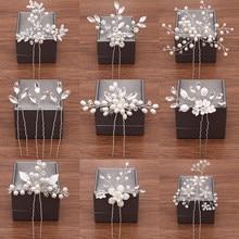 Casamento hairpins acessórios para o cabelo nupcial pérola strass flor noiva pinos de cabelo dama de honra cabeleireiro feminino jóias de cabelo clipe