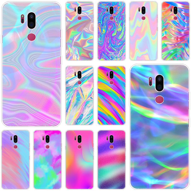 Colorful Rainbow Soft Case For LG G5 G6 Mini G7 G8 G8S V20 V30 V40 V50 Thinq Q6 Q7 Q8 Q9 Q60 W10 W30 Aristo 2 X Power 2 3 Cover