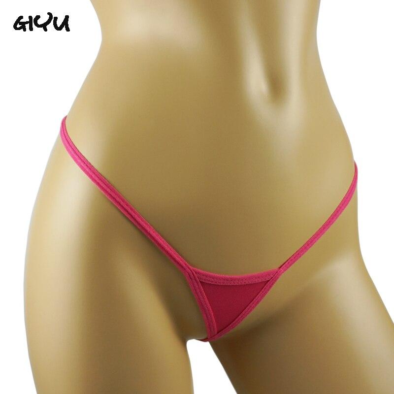 Crotchless Panties Underwear Lingerie Bikini Thongs G-Strings Tback Sexy Micro Mini Woman