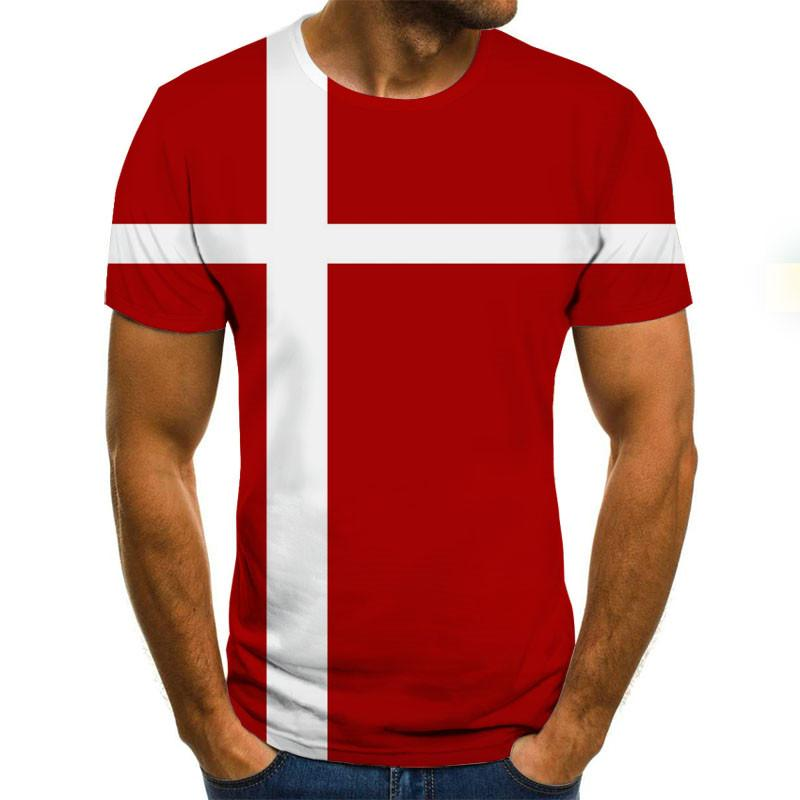 2020 New Summer Men's T-shirt 3D Flag Printing Round Neck Casual T Shirt T-shirts For Men