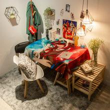 Pano de mesa de estudo dragão à prova dwaterproof água toalha de mesa retangular decoração jantar oilcloth padrão dos desenhos animados esteira de mesa de café