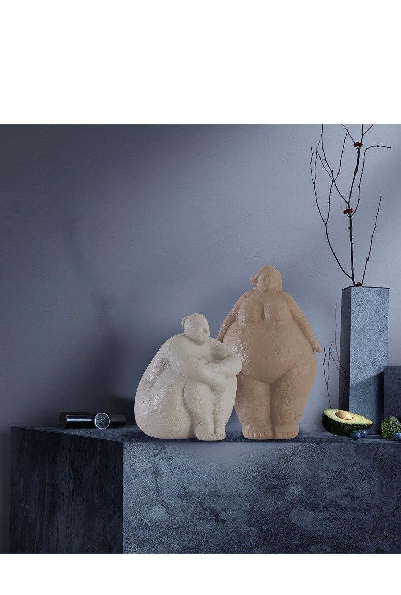Estátua escultura estatuetas para interior acessórios de