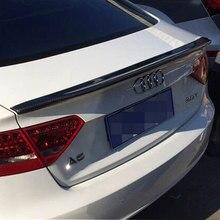 A5 4 Modificado Porta Caractere Estilo Fibra De Carbono Trunk Rear Lip Spoiler Asa para Audi Sportback A5 4 Porta Do Carro 2009-2016