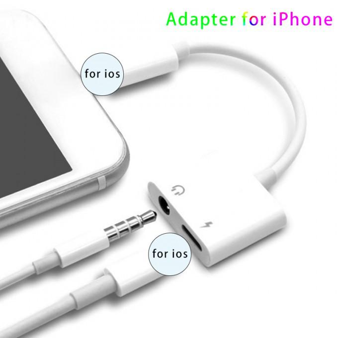 Cross-border Fit For IPhone8/XS Dual Lightning Headset Adapter To Iphone7 Audio Adapter