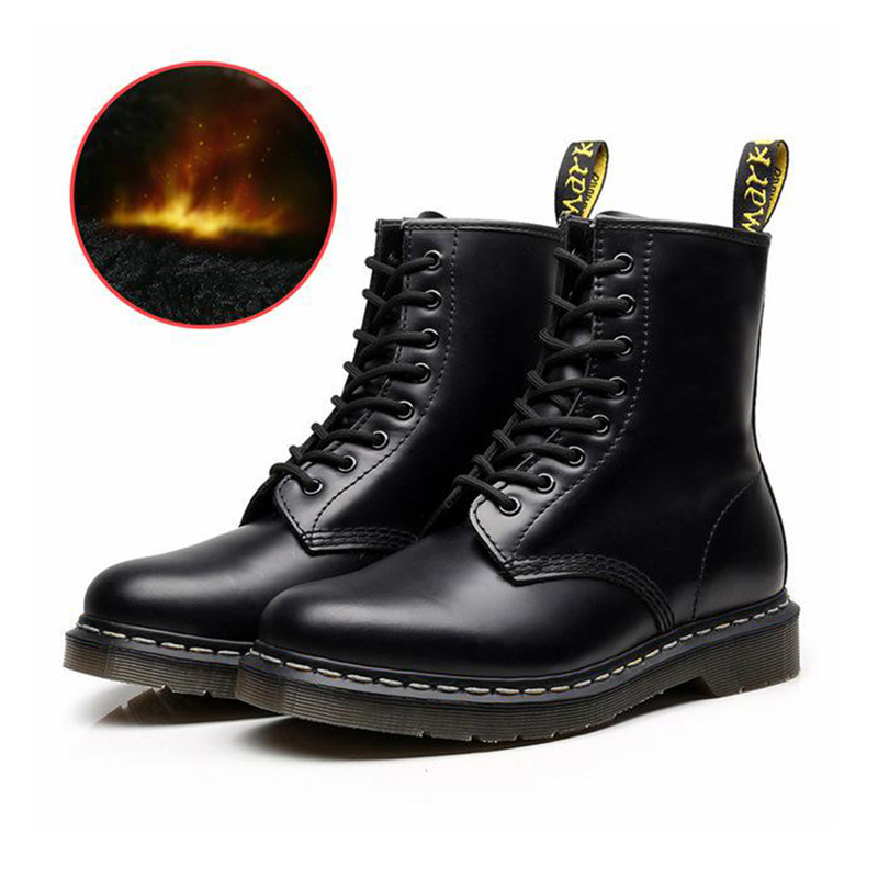 Women Boots Genuine Leather Ankle Air Martin Boots Women Casual DrMotorcycle Shoes Couple Shoes Zapatos Mujer Hombre Size 35-48