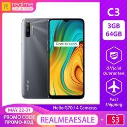 Перейти на Алиэкспресс и купить realme c3 global version 3gb ram 64gb rom pro mobile phone mtk helio g70 cpu 12mp camera 6.5дюйм. mini-drop fullscreen 5000mah