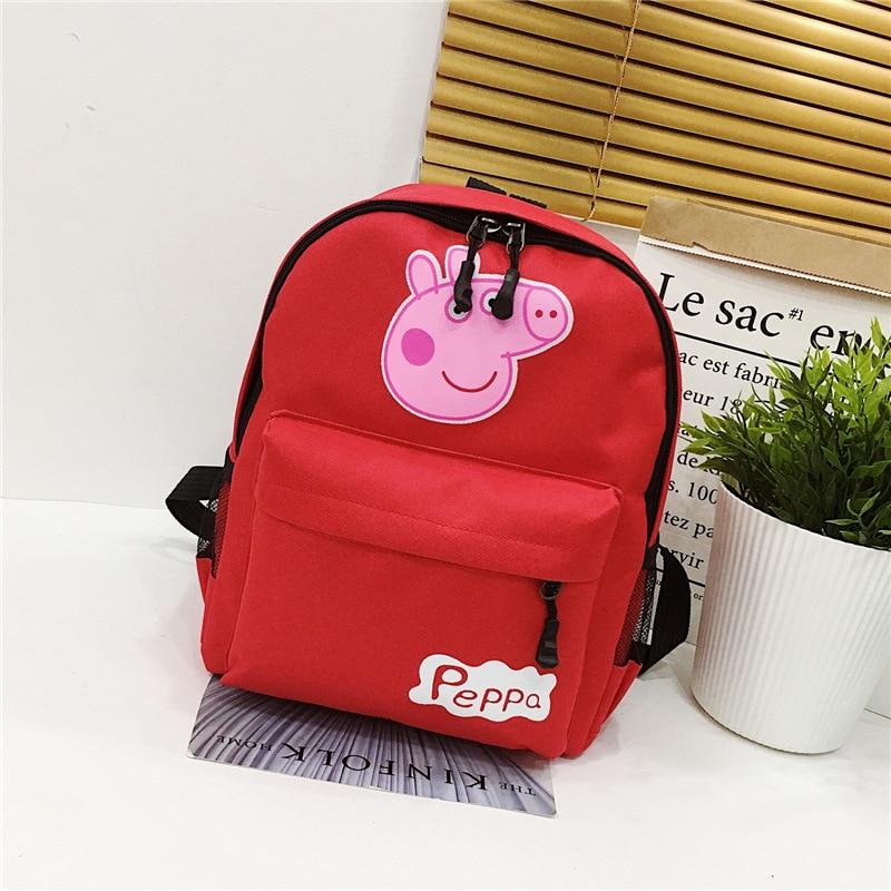 Peppa Pig Backpack Cute Anime Figure Backpacks Children's Gifts Outdoor Travel Cartoon Kindergarten Toy Bag