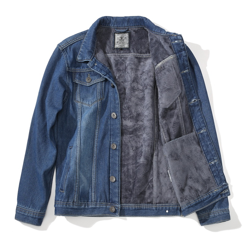 Denim Jackets Coat Mens Casual Winter Warm Thicken Fleece Lamb Outerwear Parkas New Hip Hop Streetwear Jacket And Coats ,GCM011