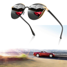 Polarized Sunglasses for Men Women Car Goggles Round Frame Vintage Sunglasses for Driving the Car UV400 Driver Sunglasses 2016 retro round sunglasses women brand designer outdoor travel driving vintage sunglasses for women ladies 5 colors hot sale
