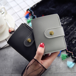 Retro Two Fold Sewing Thread Small Portable Wallet Women's Ladies  High Quality British Style Ladies Students Simple Trend
