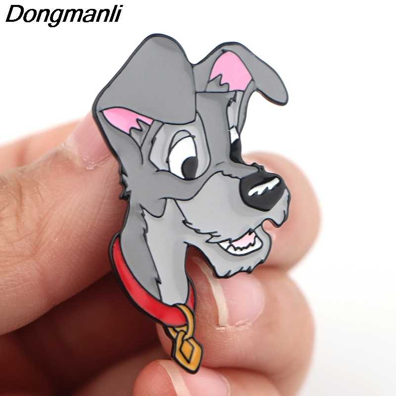 P4233 Dongmanli Gioielli Cani Smalto Spilli del Metallo Sveglio Collare Spilli e Spille Spilla Risvolto Spille Distintivo
