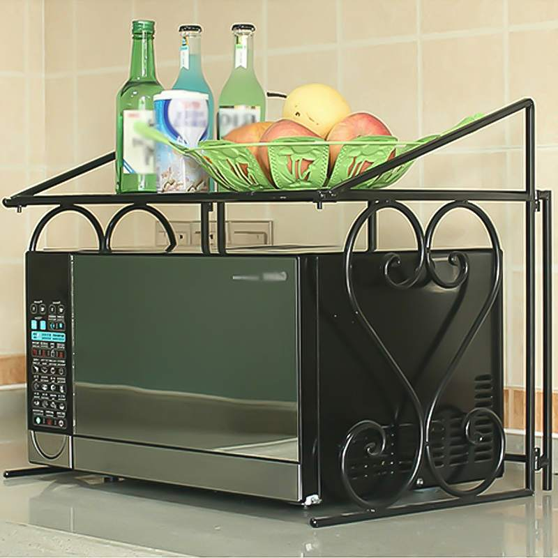 Home Microwave Oven Rack Kitchen Shelf Organizer Stainless Steel Kitchen Storage Rack Over The Oven Shelf Kitchen Tool Organizer