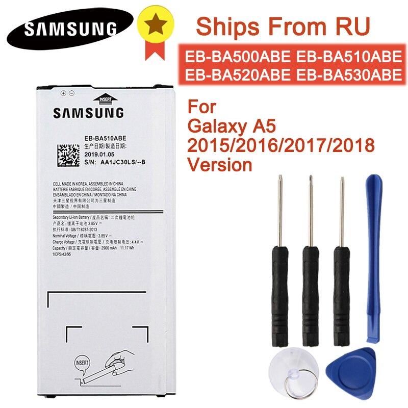 Original Battery EB-BA510ABE EB-BA510ABA For Samsung Galaxy A5 2016 /A5 2015/ 2017/2018 A510F A5100 Authentic Battery 2900mAh