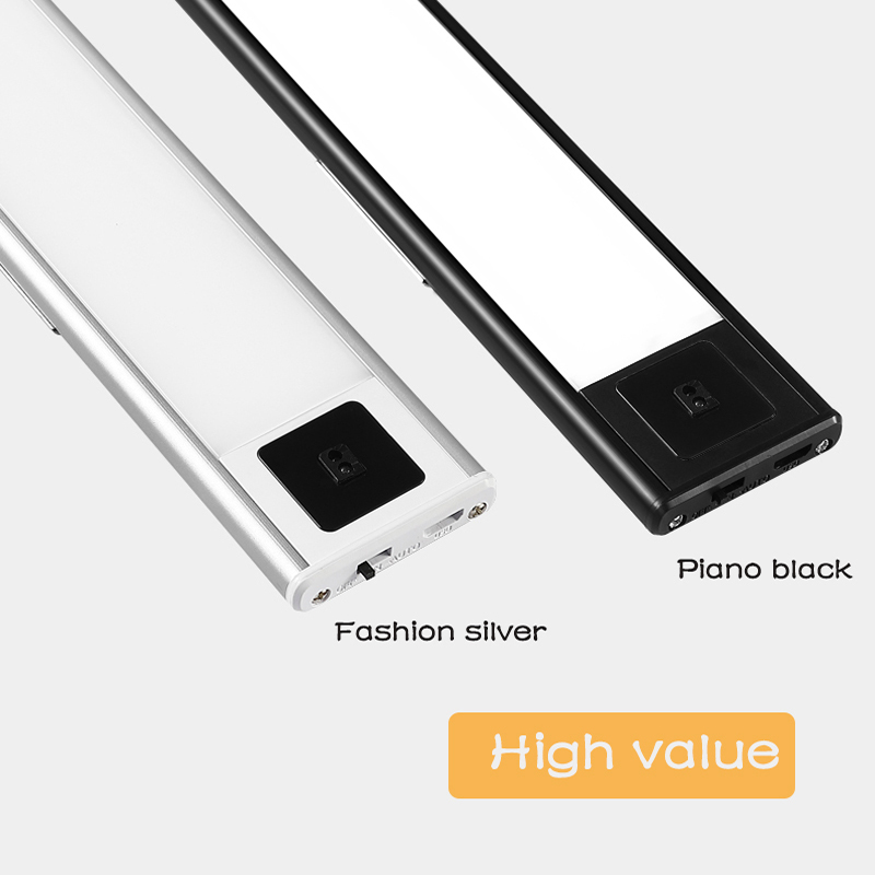 New deals Ultra-thin LED human body intelligent induction light 20 40 60 80cm magnetic adsorption usb charging led cabinet light