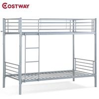Bedroom Kids Adult Metal Ladder Twin Bunk Beds Frame HW56064+