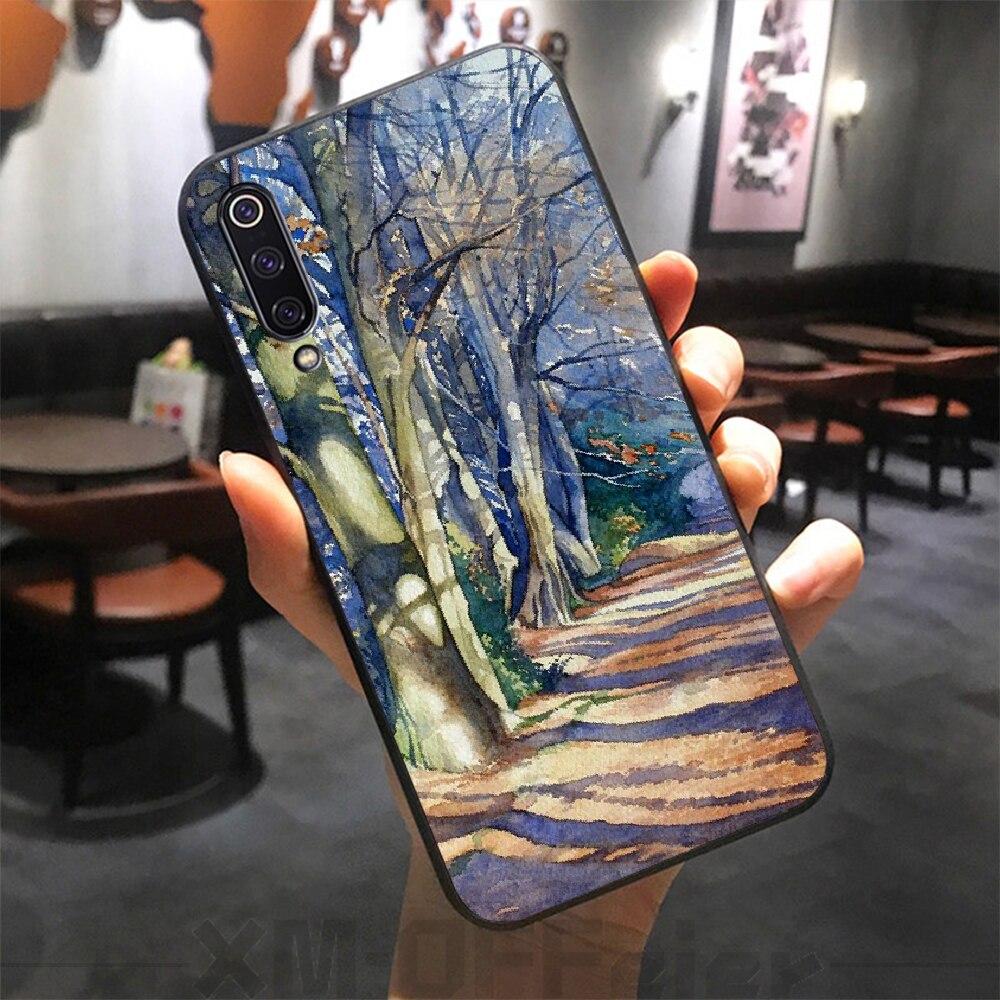 Reayou acuarela bosque DIY de lujo funda de teléfono para Xiaomi mi 8 9 8SE 9SE 8Lite mi x2 2S max2 3 teléfono móvil F1