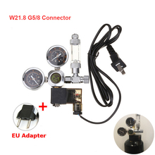 Aquarium CO2 Regulator 220V Magnetic Solenoid Kit with Check Valve Bubble Counter Fish Tank DIY CO2 Control System Kit W21.8 G5/