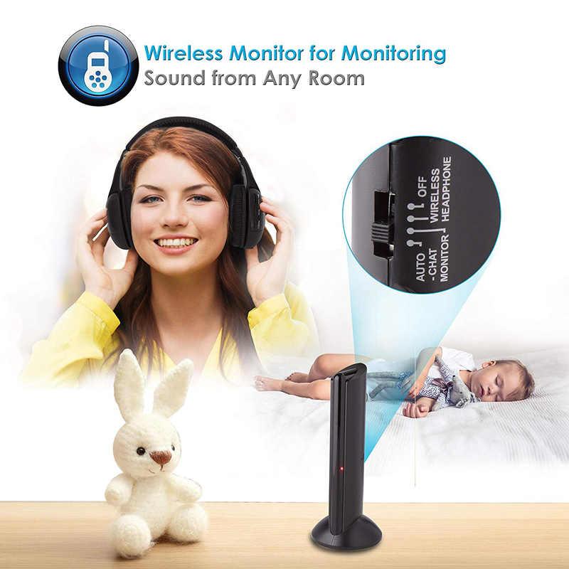 2019 New Arrival 5 w 1 zestaw słuchawkowy bezprzewodowe słuchawki bezprzewodowy RF Mic dla PC TV DVD CD MP3 MP4 bezprzewodowy słuchawki