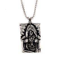 Нержавеющая Сталь Креста tag Ожерелье Модные Аксессуары Личности