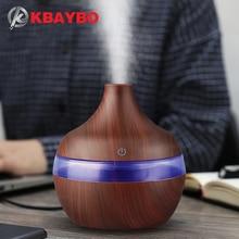 Купить с кэшбэком USB 300ml Aroma air Humidifier Aromatherapy Wood Grain 7 Color LED Lights Electric Aromatherapy Essential Oil Aroma Diffuser