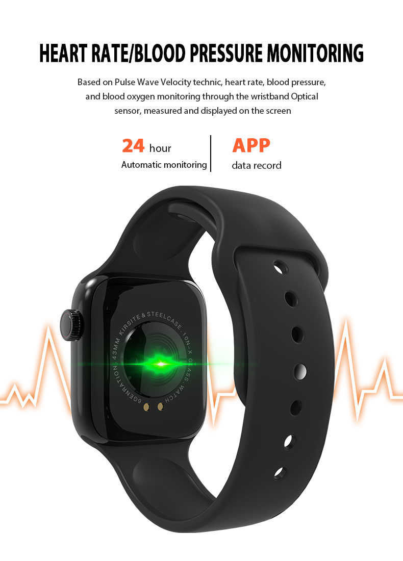 F9 s PK iwo8 b57 Touch Screen smart watches to Monitor Heart rate and Blood pressure Supported for IOS Android for men women 26