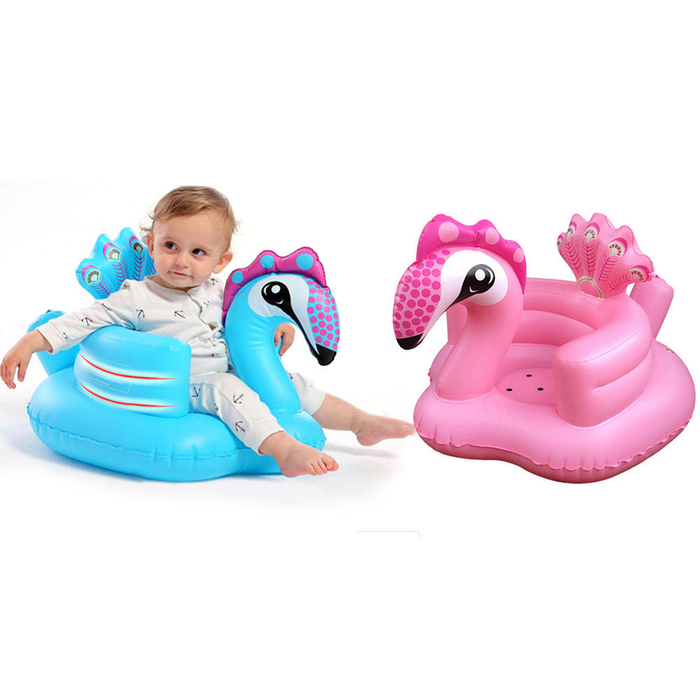 Multifunctional Baby Children Inflatable Bathroom Sofa PVC Inflatable Seat Learn Dinner Chair Portable Bath Stool For Babies D23