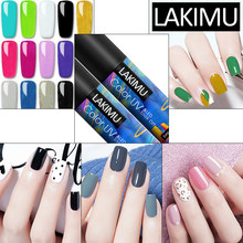 Lakimu 60 + Warna Solid Desain Nail Art Uv Gel Nail Polish Rendam Off Glitter Cat Gel UV LED Gel varnish Manicure Lacquer 5 Ml(China)
