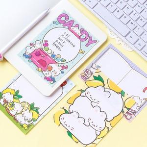 Image 5 - 9 CÁI/LỐC phiên bản Hàn Quốc Mèo MengMeng Mèo Size Lớn Series tươi tắn và đáng yêu N lần miếng dán Memo Pad