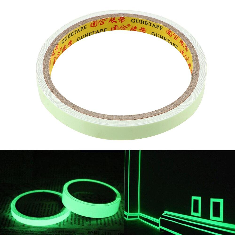 Autocollant de voiture voiture-style Vision nocturne 10mm * 3m auto-adhésif sûr bricolage ruban lumineux lueur dans le ruban davertissement sombre