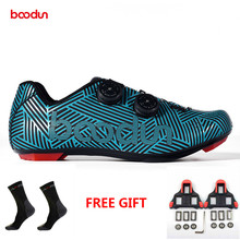BOODUN 2019 new men's bicycle shoes nylon bottom breathable road mountain bike riding self-locking shoes sports bike shoes