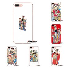 Soft Transparent Shell Covers For iPod Touch Apple iPhone 4 4S 5 5S SE 5C 6 6S 7 8 X XR XS Plus MAX art Chinese god of wealth(China)