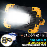 350W COB LED Floodlight USB Charging Rechargeable Spot Work Lamp Outdoor Camping Portable Led Searchlight Rechargeable Battery