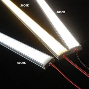Light Diode Led-Hard-Strip Flat-U-Profile 20inch 50cm 2835 Cabinet-Bar 12VDC Led-Per-Meter
