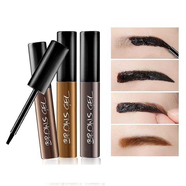 3 Colors Peel Off Henna Eyebrow Gel Brown Color Make Up Natural Long Lasting Waterproof Eye Brow Tattoo Tint Eyebrows Enhancer