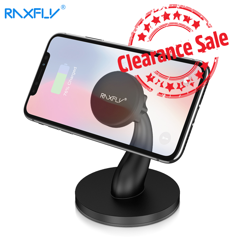 RAXFLY Universal Phone Holder Stand Magnetic Table Desk Mount For IPhone 11 7 IPad Xaimi Redmi Samsung 360 Degree Phone Holder