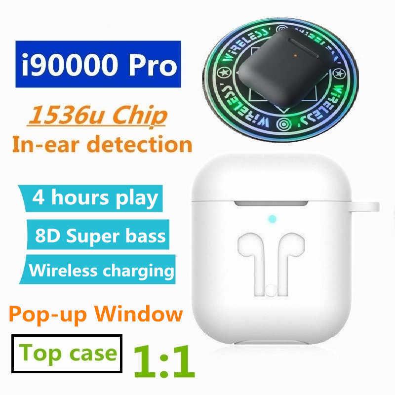 I90000 プロ TWS インイヤー検出 1536u 1:1 Air2 ポップアップワイヤレスイヤホン PK H1 チップ i9000 i10000 i50000 i9000 tws i90000 tws