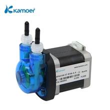 Kamoer Micro Peristaltic Pump KPAS100 24V Stepper Motor Straight/L Plate, Transfer Viscous, non-viscous Liquids (20-110ml/min)