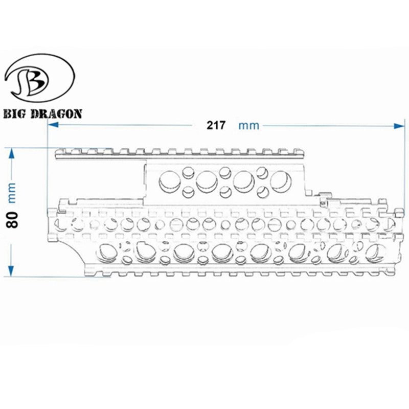 Image 3 - Emersongear Ak 47 Handguard Ferroviarie M83 Stile di Caccia di  Airsoft Del Fucile di Gel di Alluminio Sfera Jinming Airsoft  Accessori-in Accessori per fucili da caccia da Sport e intrattenimento  su