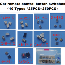 10 Types * 25PCS Tactile Push Button Switch Micro Switch Car remote control butt