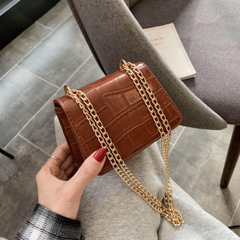 New texture small bag female 2020 new Korean version of the mini net red crocodile pattern shoulder messenger small square bag foreign bag female 2020 new korean version of the fashion texture crocodile pattern wild shoulder messenger chest bag