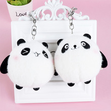 1 Pcs Cute Mini Panda Shape Plush Toys Kawaii Handbag Pendant Key Chain Kids Gift Bag Accessories