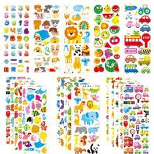 Autocollants 3D pour enfants en bas âge, étiquette bouffante, paquet de variété, dessin animé, 500