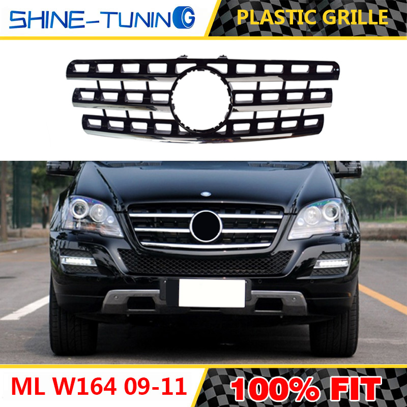 Color : C 2005 to 2008 SHENYF Frente Parrilla del Coche for Mercedes for el Benz Clase ML W164 X164 GT Grille 2005-2011 ML300 ML320 ML350 ML400 ML500 ML430 sin Emblema
