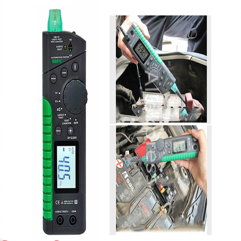 DY2203 Auto Circuit-Tester Automotive Multifunktions Tester Digitale Schaltung Multimeter Logic-Level-Test Breaker Diagnose Werkzeug
