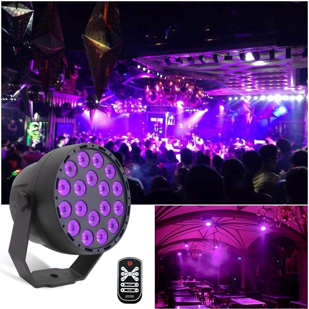 18 LED UV lighting effects Professional Stage Light Disco DJ Projector Machine Party with Wireless Remote Control|Stage Lighting Effect| |  - title=